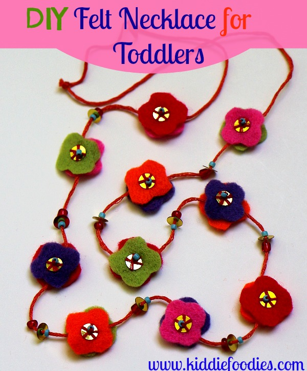 DIY felt necklace for toddlers