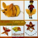 Fall crafts – 5 pictures with autumn leaves