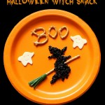 Halloween witch and ghost snack