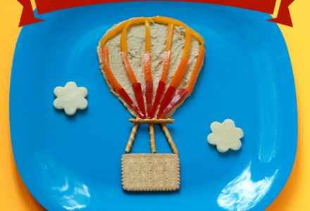 Hot air balloon snack for kids