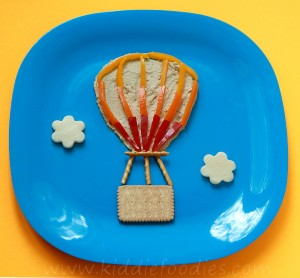 Hot air balloon snack for kids step1
