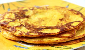 Pumpkin recipes - homemade pancakes with salmon and ricotta step4