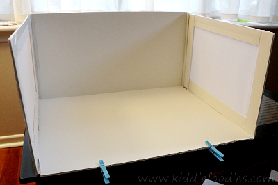 Food photography -how to build a foldable lightbox step11