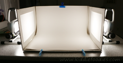 Food photography -how to build a foldable lightbox step14