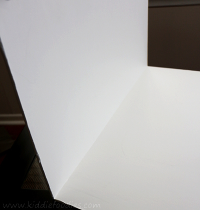 Food photography -how to build a foldable lightbox step3