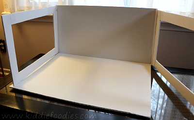 Food photography -how to build a foldable lightbox step8