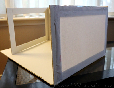 Food photograpghy -how to build a foldable lightbox step9