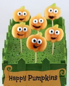 Happy pumpkins - Halloween party food ideas