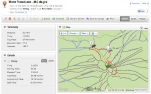 Trip to 3M - Mont Tremblant Garmin Forerunner 210 stats1