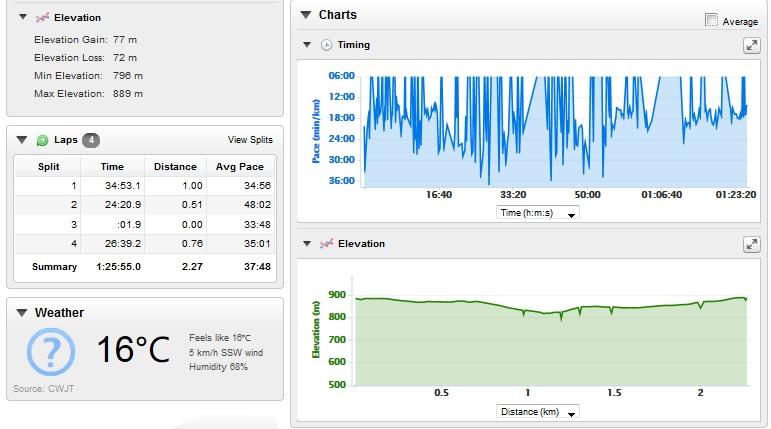 Trip to 3M - Mont Tremblant Garmin Forerunner 210 stats2