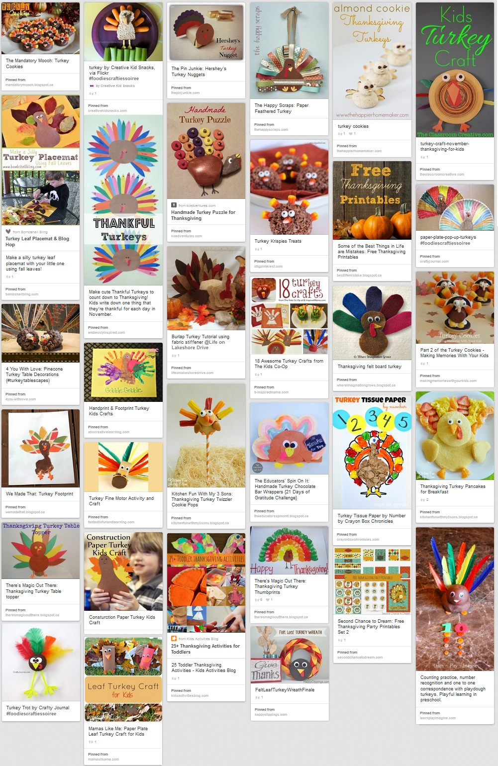 35 awesome Thanksgiving turkey crafts - Thanksgiving foods and crafts Pinterest board