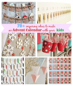 70+ inspiring ideas to make an Advent calendar with your kids