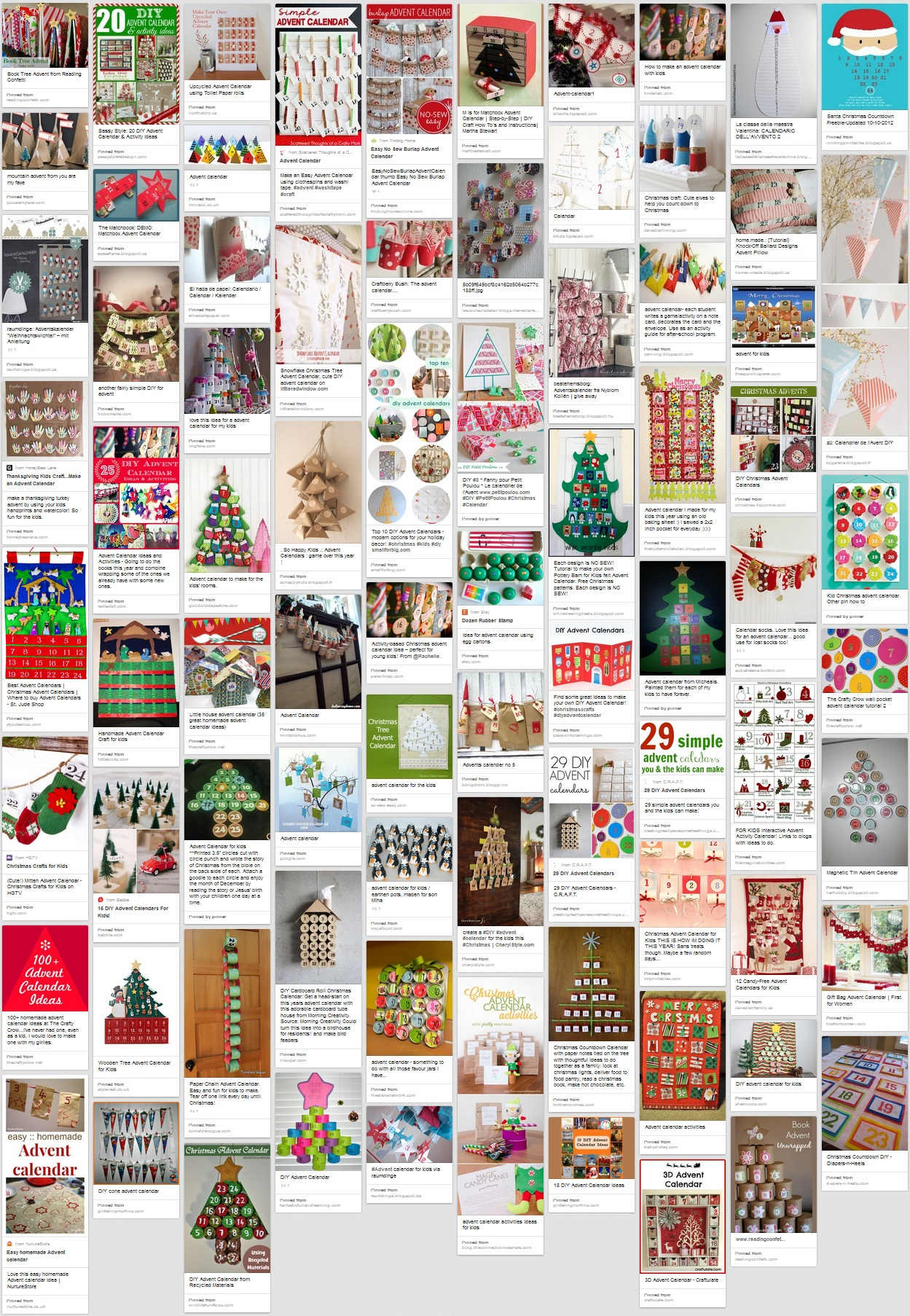 Advent calendars ideas Pinterest board