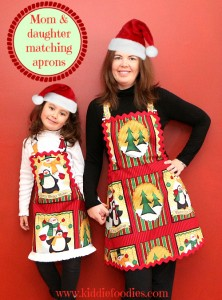 Easy to sew mom and daughter matching apron McCall'sM5720 girls title