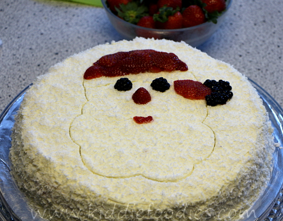 Santa Claus cake, Christmas cake decoration ideas step1