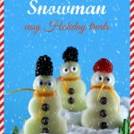 Snowman – easy Holiday treats for kids