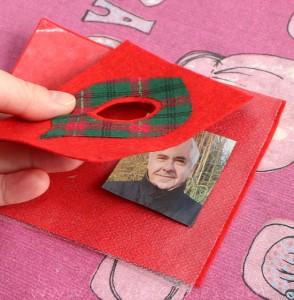 Felt Christmas personalized photo ornaments Butterick B4369 step3a
