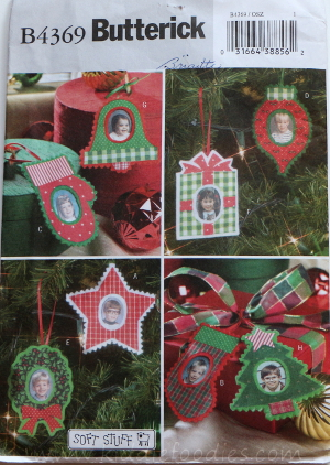 Felt Christmas personalized photo ornaments Butterick B4369
