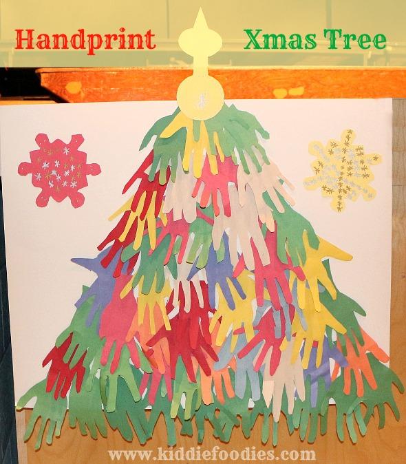 Handprint Christmas tree - easy paper craft for kids ...