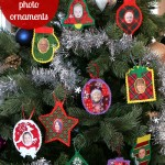 Felt personalized photo Christmas ornaments