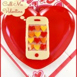 Call me Valentine – iphone shaped sandwich