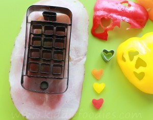 Call me Valentine, Iphone shaped sandwich, Valentine lunch idea for kids step1