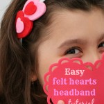 Easy felt hearts headband tutorial