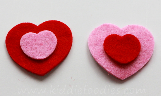Easy felt hearts headband tutorial step2
