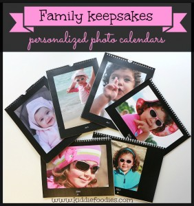 Family keepsakes ideas - make a personalized photo calendar, #photocalendar, #keepsake
