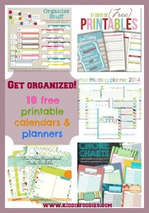 Get organized, 10 free printable calendars and planners for 2014