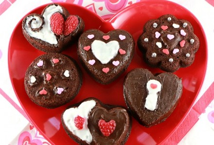 St Valentine's Day dessert ideas - easy chocolate fondant cookies, #chocolatefondant, #cookies, #valentinesideas