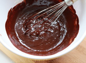 St Valentine's Day dessert ideas - easy chocolate fondant cookies step2a