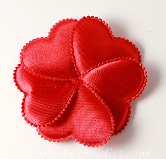 how to make red heart flower headband for st valentine's day tutorial, Beautiful flower