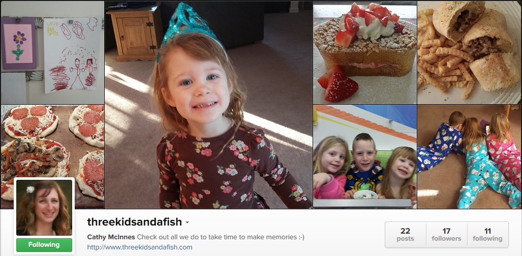 Foodies and Crafties Soiree Instagram blog hop featured blogger Cathy from Three kids and a fish