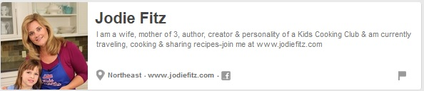 Foodies and Crafties Soiree Pinterest blog hop featured blogger Jodie from Jodiefitz