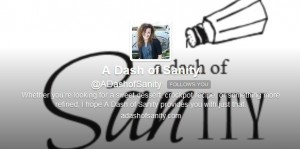 Foodies and Crafties Soiree Twitter blog hop featured blogger Sandra from A dash of Sanity