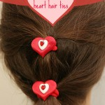 How to make heart hair ties for Valentine's Day
