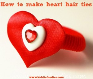 How to make heart hair ties for Valentine's Day - tutorial step3c