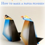 Simple origami for kids – how to make a paper penguin