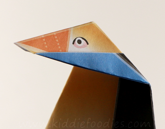 Simple origami for kids - how to make a paper penguin step5a