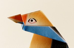 Simple origami for kids - how to make a paper penguin step5b