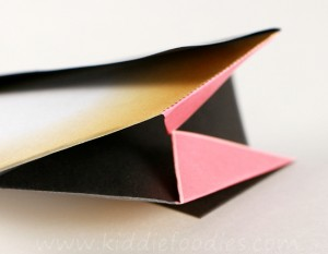 Simple origami for kids - how to make a paper penguin step6a