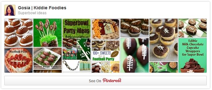 Superbowl ideas Pinterest Kiddie Foodies