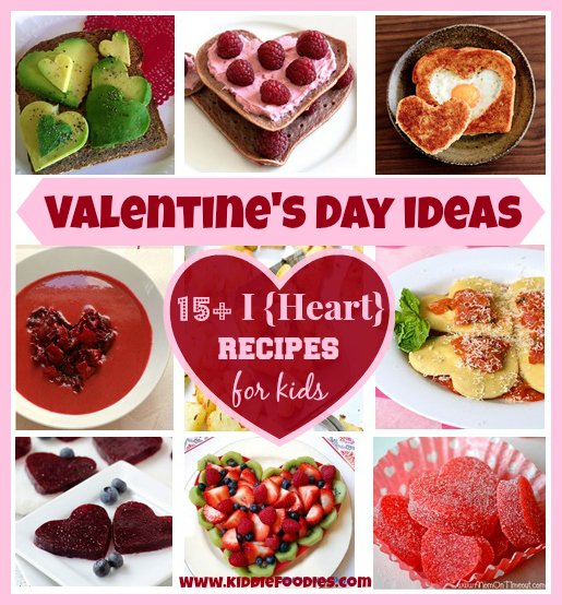 Valentine's Day ideas - 15 I Heart recipes for kids, #valentinedayideas, #valentinedayrecipes, #heartshaped