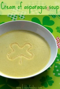 Cream of asparagus soup - easy recipe, #souprecipe, #asparagus, #stpatrick