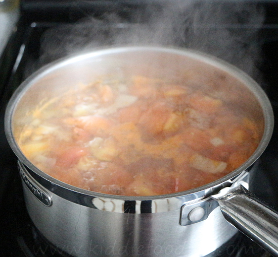 Homemade ABC tomato soup for kids step1