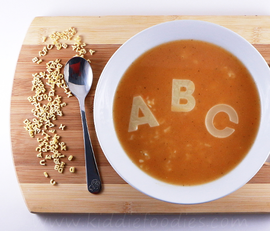 Homemade ABC tomato soup for kids step4