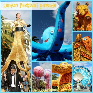 Lemon festival Menton 2014 parade of floats made from lemon and oranges