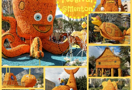 Lemon festival Menton 2014 - statues made of lemon and oranges
