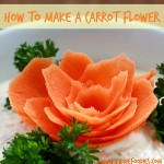 How to make carrot flowers